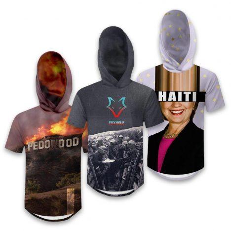 Mens Hooded Scoop Tees