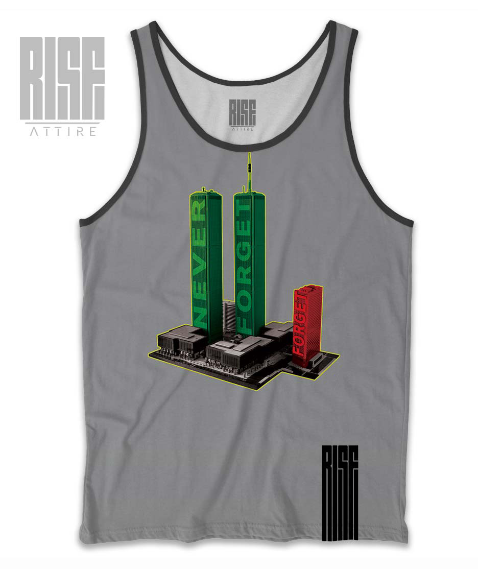 Never Forget Mens Tank Rise Attire