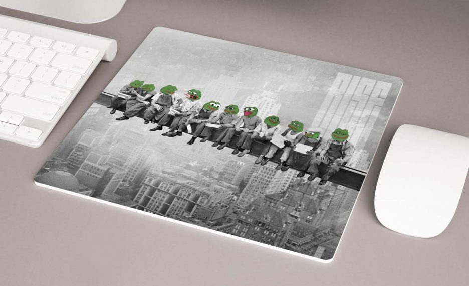 Pepes On A Skyscraper Mousepad mouse pad RISE ATTIRE