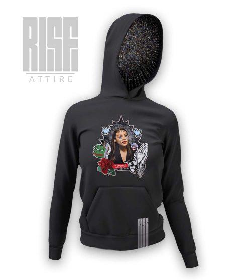 Saint Alexandria DARK womens hoodie RISE ATTIRE