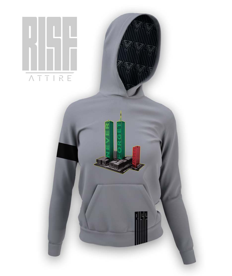 Never Forget [7] Womens Hoodie Rise Attire