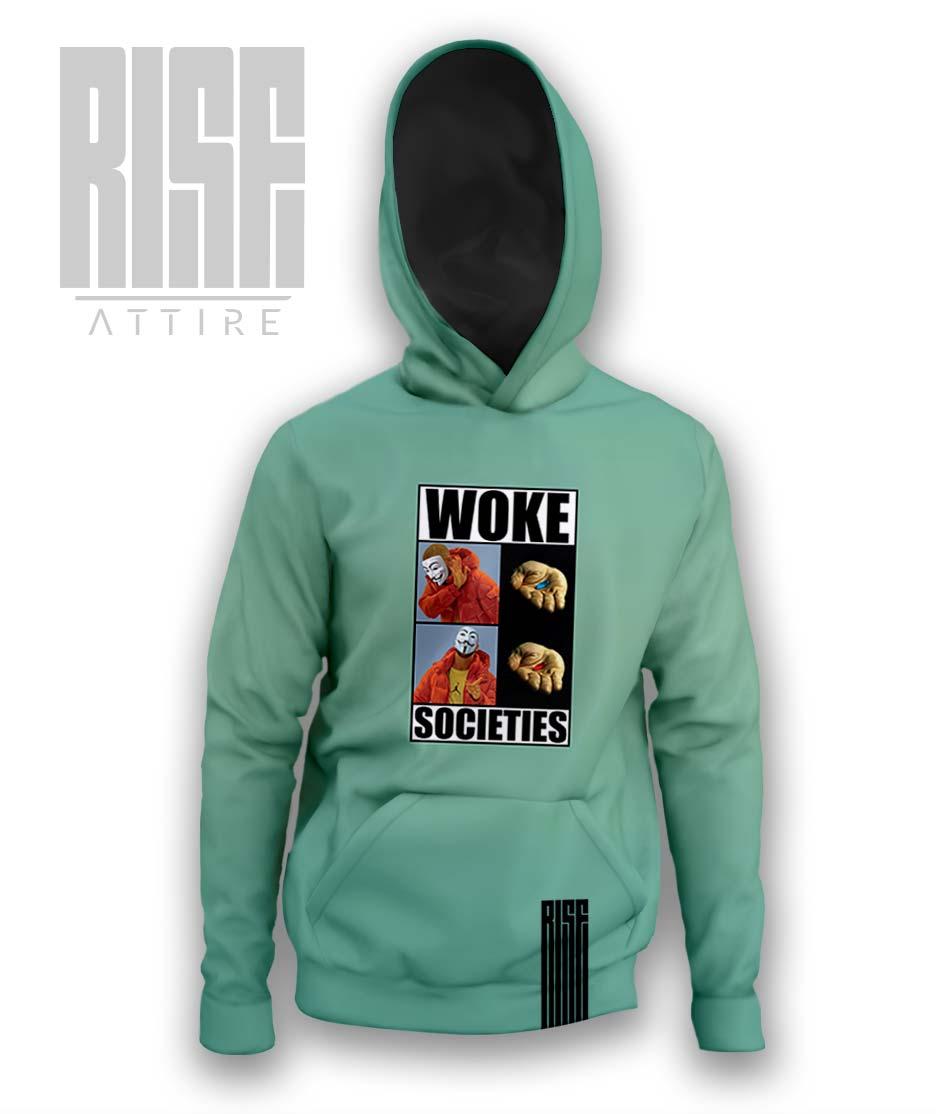 Woke Societies Gods Plan mens unisex pullover hoodie mint RISE ATTIRE