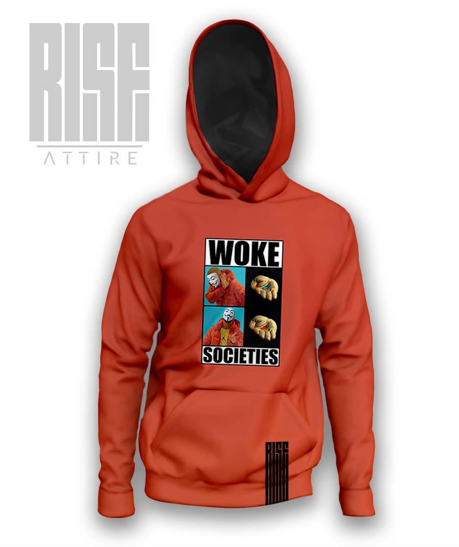 Woke Societies Gods Plan mens / unisex red pullover hoodie RISE ATTIRE