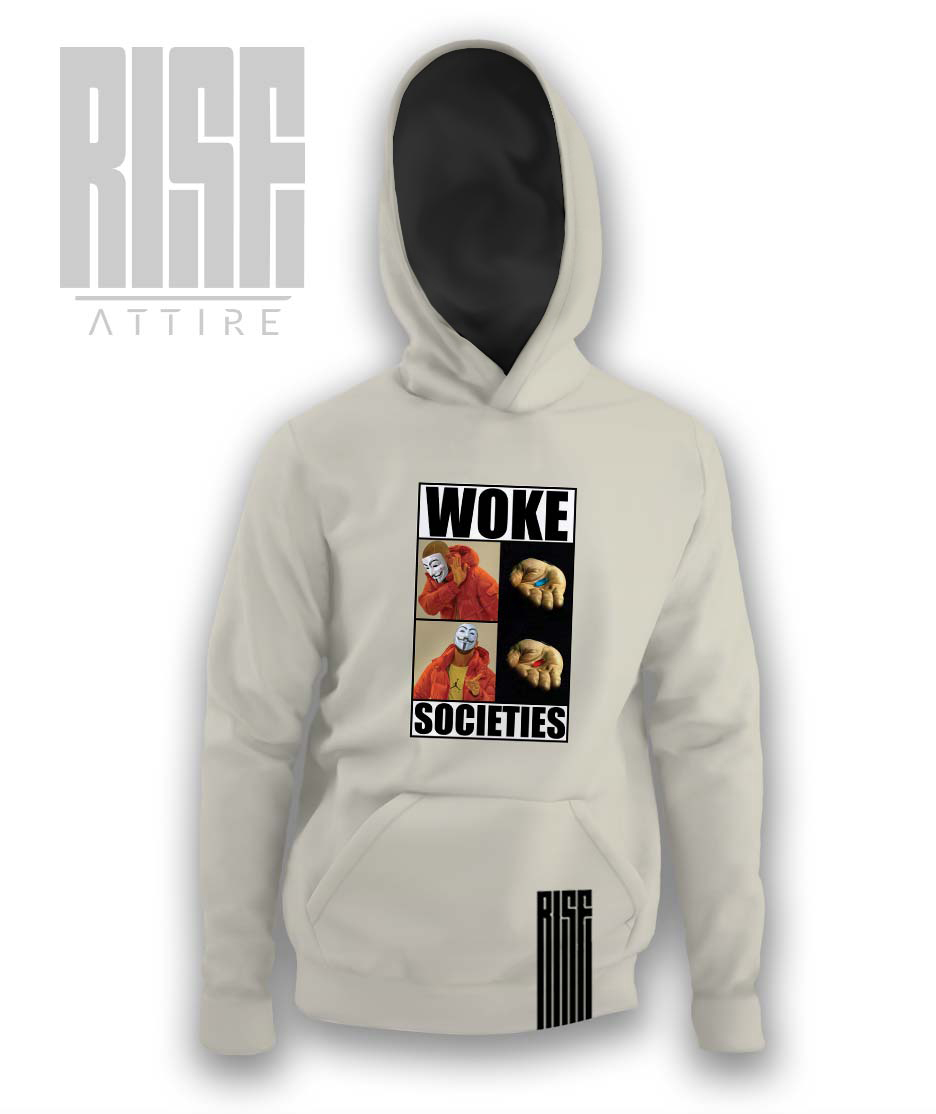 Woke Societies Gods Plan mens / unisex / pullover hoodie / cream / RISE ATTIRE