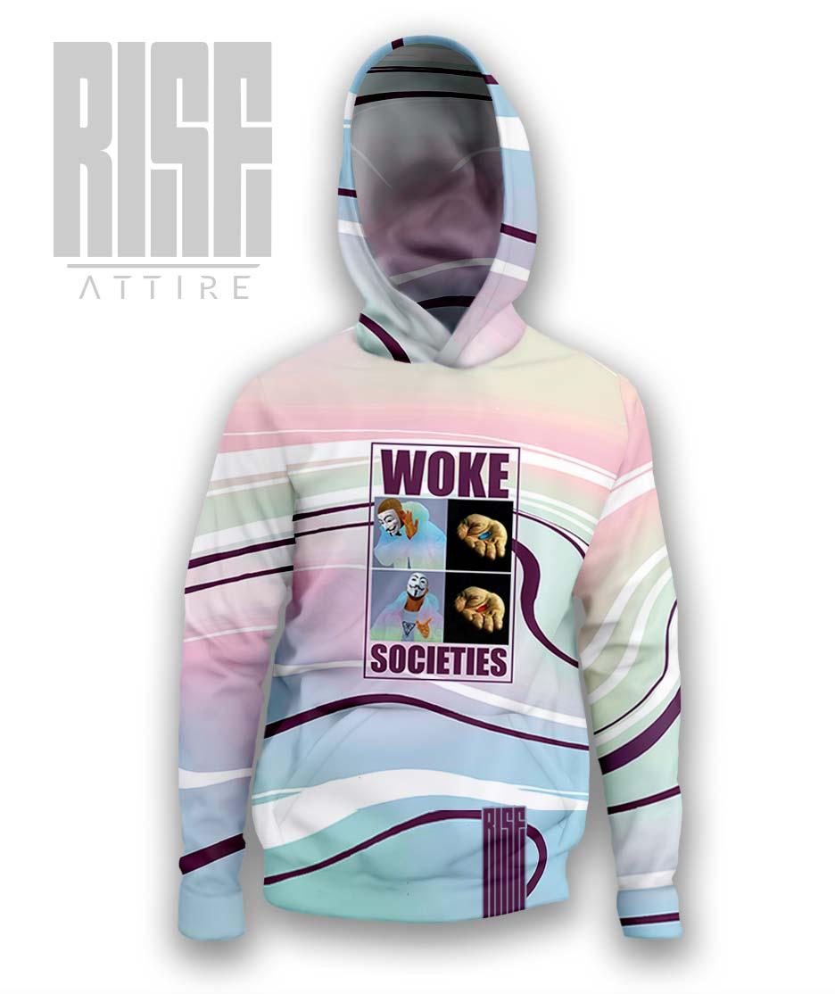 Woke Societies Gods Plan technicolor mens pullover hoodie RISE ATTIRE