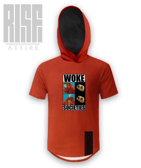 Woke Societies Gods Plan mens long sleeve tee / sweater red RISE ATTIRE