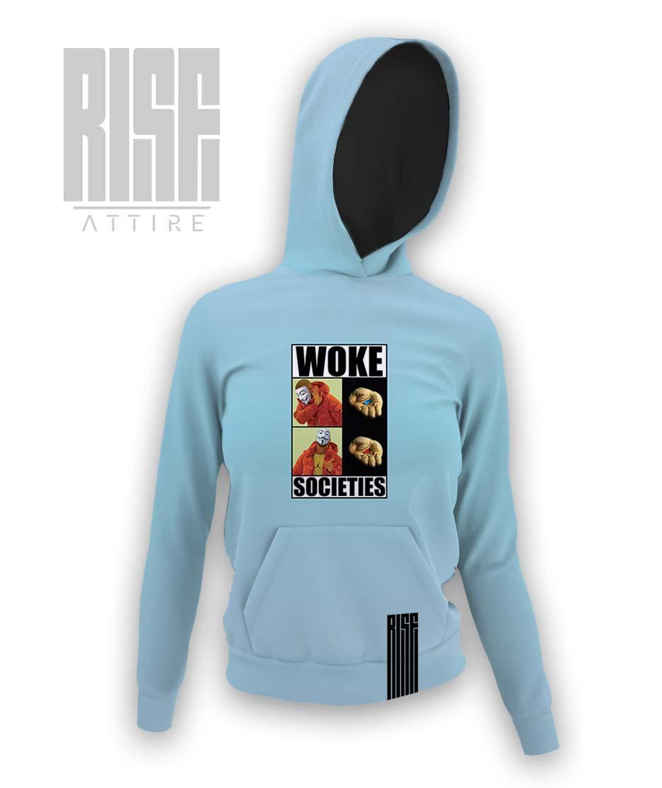 Woke Societies Gods Plan womens pullover hoodie RISE ATTIRE