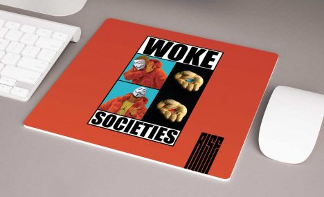 Woke Societies Gods Plan red premium mousepad RISE ATTIRE