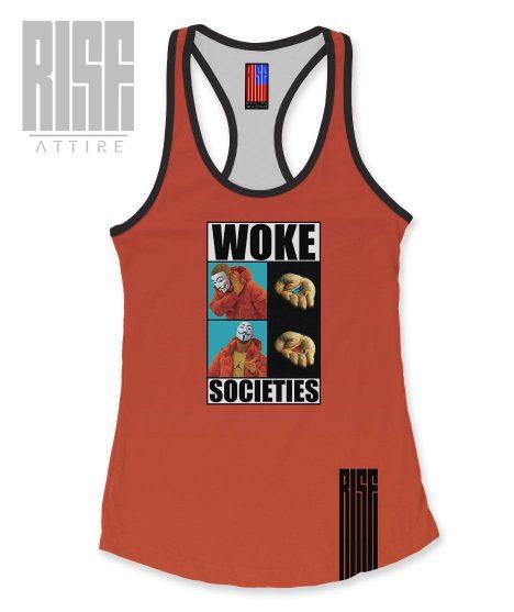 Woke Societies Gods Plan red womens tank top RISE ATTIRE