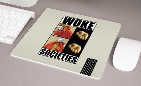 Woke Societies Gods Plan / premium mousepad / cream / RISE ATTIRE