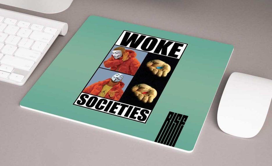 Woke Societies Gods Plan premium mouse pad mint RISE ATTIRE