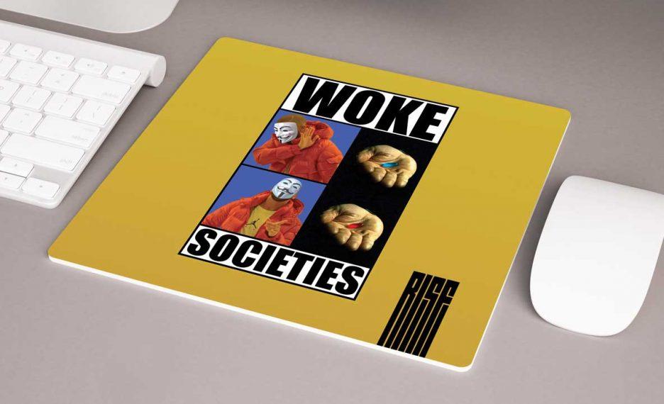 Woke Societies Gods Plan mousepad Banana Yellow RISE ATTIRE