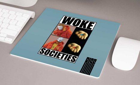 Woke Societies Gods Plan premium mouse pad blue RISE ATTIRE