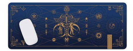 Cult of the Medics // Coat of Arms // Premium Desk Mat // Royal Blue // RISE ATTIRE