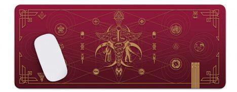 Cult of the Medics // Coat of Arms // Premium Desk Mat // Ruby Red // RISE ATTIRE