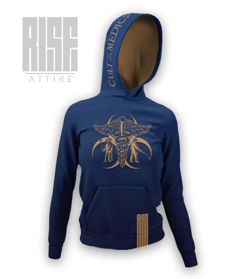 Cult of the Medics // Coat of Arms // Womens Pullover Hoodie // Royal Blue // RISE ATTIRE
