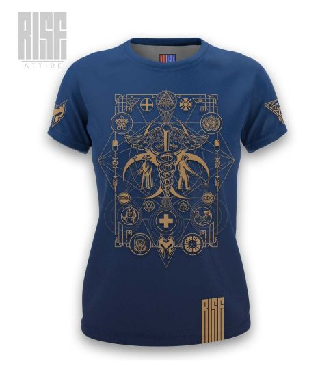 Cult of the Medics // Coat of Arms // Womens Tee // Royal Blue // RISE ATTIRE