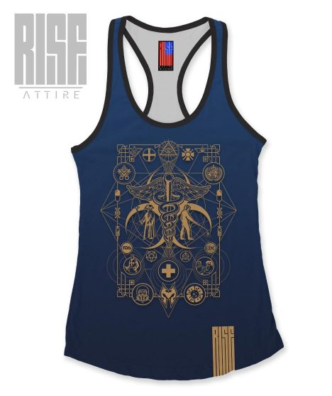 Cult of the Medics // Coat of Arms // Womens Tank Top // Royal Blue // RISE ATTIRE