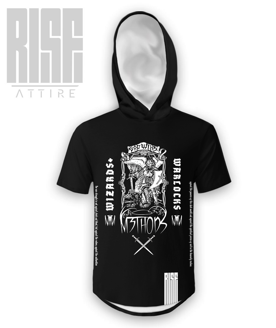 M3thods Wizards and Warlocks hooded Scoop Tee // RISE ATTIRE